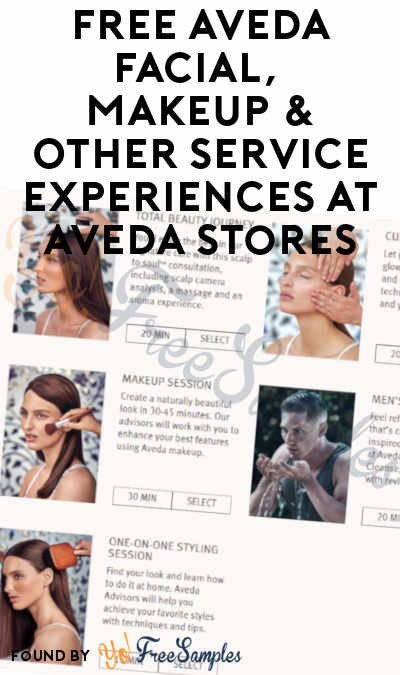 FREE Aveda Facial, Makeup & Other Service Experiences At Aveda Stores