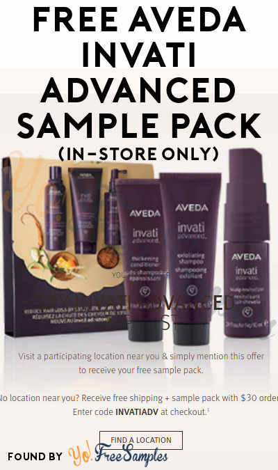 FREE Aveda Invati Advanced Sample Pack (In-Store Only)