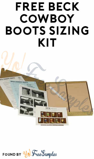 FREE Beck Cowboy Boots Sizing Kit
