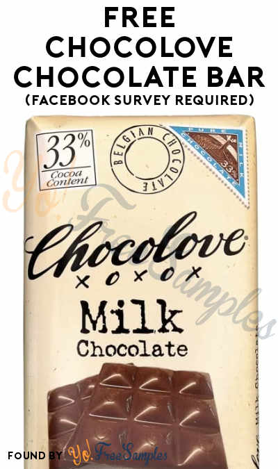 FREE Chocolove Chocolate Bar (Facebook Survey Required)