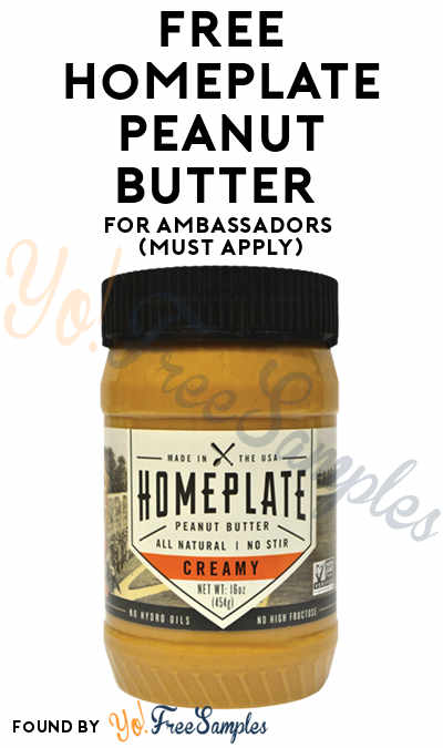 FREE HomePlate Peanut Butter For Ambassadors (Must Apply)