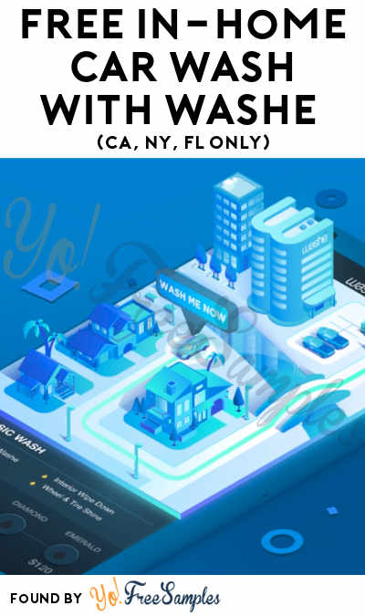 FREE In-Home Car Wash With Washe App (CA, NY, FL Only)