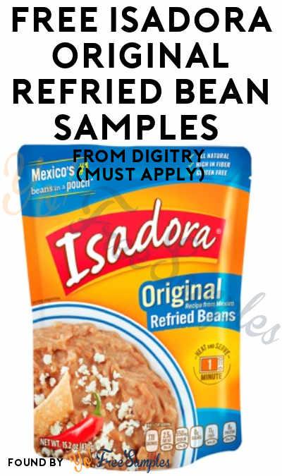 FREE Isadora Original Refried Bean Samples From Digitry (Must Apply)