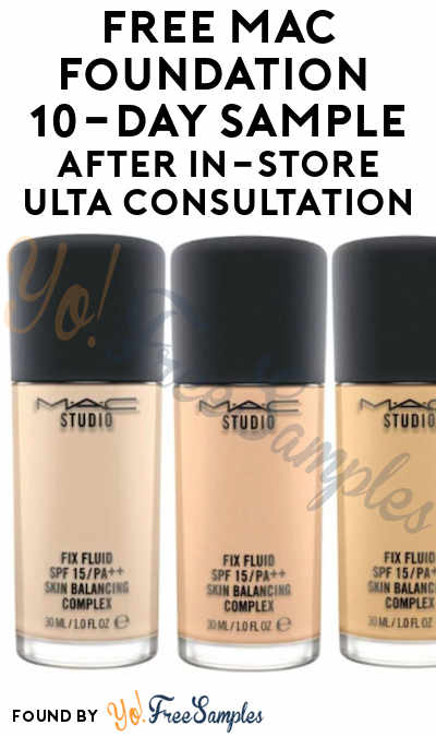 FREE MAC Foundation 10-Day Sample After In-Store Ulta Consultation