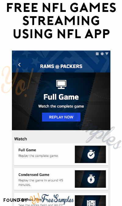 FREE Monday Night Football, Sunday Night Football & Local NFL Games Streaming Using NFL App