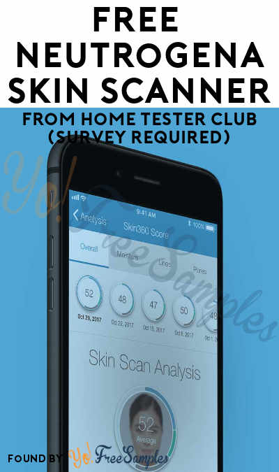 FREE Neutrogena Skin Scanner From Home Tester Club (Survey Required)