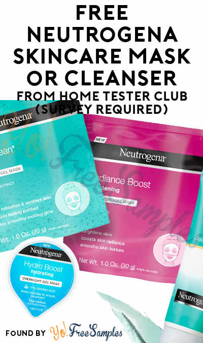 FREE Neutrogena Skincare Mask or Cleanser From Home Tester Club (Survey Required)