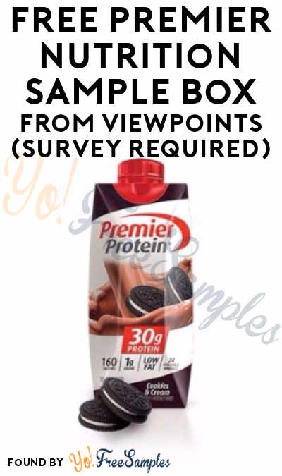 FREE Premier Nutrition Sample Box From ViewPoints (Survey Required)