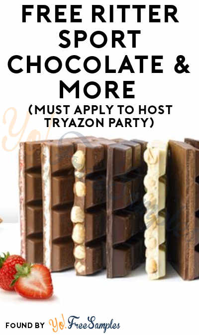 FREE Ritter Sport Chocolate & More (Must Apply To Host Tryazon Party)