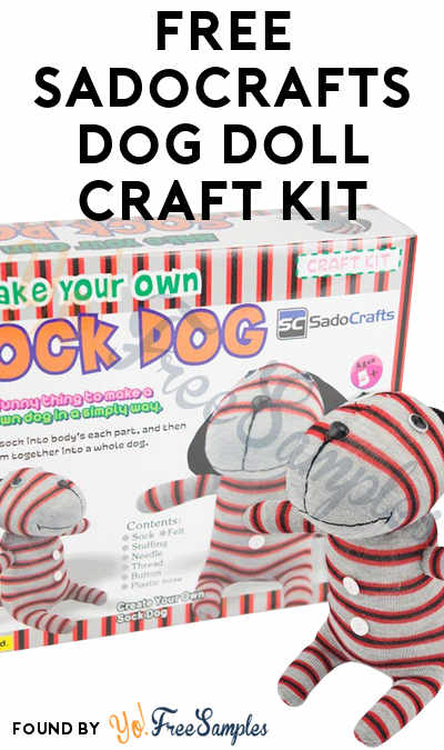 FREE SadoCrafts Dog Doll Craft Kit