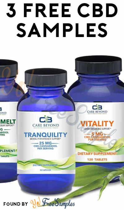 FREE Thera-melt, Tranquility and Vitality CBD Samples (Email Confirmation Required) [Verified Received By Mail]