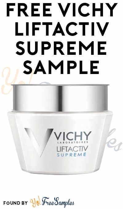 FREE Vichy LiftActiv Supreme Sample