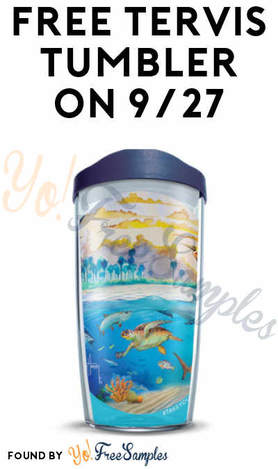 Out Online, In-Store Only Now: FREE Tervis Tumbler On 9/27