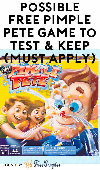 Possible FREE Pimple Pete Game To Test & Keep (Must Apply)