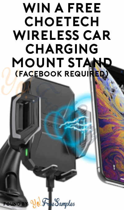 Win A FREE Choetech USB Type C 7.5W Wireless Car Charging Mount Stand (Facebook Required)