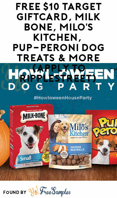 FREE $10 Target GiftCard, Milk Bone, Milo's Kitchen, Pup-Peroni Dog Treats & More (Apply To RippleStreet)