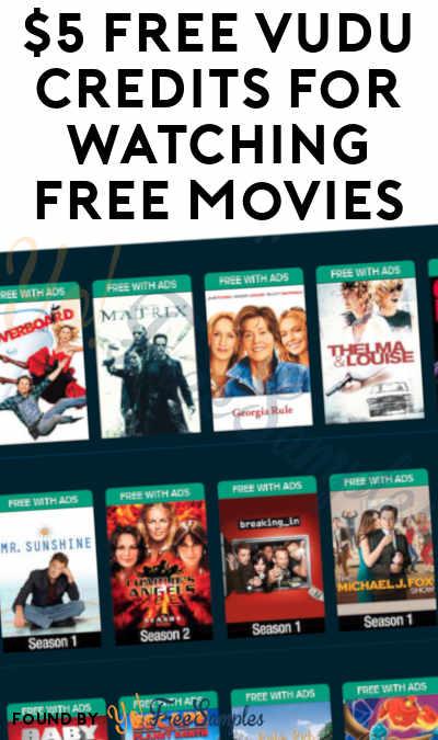 $5 FREE VUDU Credits For Watching FREE Movies