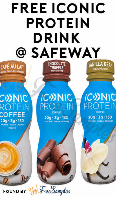 FREE Iconic Protein Drink At Safeway