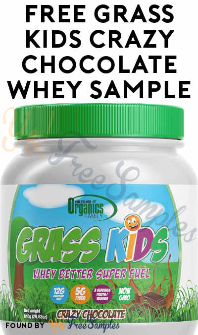 FREE Grass Kids Crazy Chocolate Whey Sample