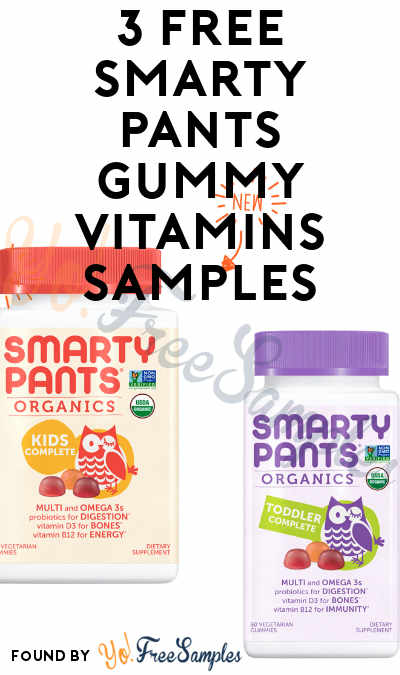 Limited Daily: 3 FREE Smarty Pants Gummy Vitamins Samples