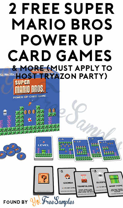 2 FREE Super Mario Bros Power Up Card Games & More (Must Apply To Host Tryazon Party)