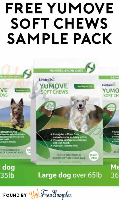 Hurry Back Again! FREE YuMOVE Soft Chews For Dogs Sample Pack