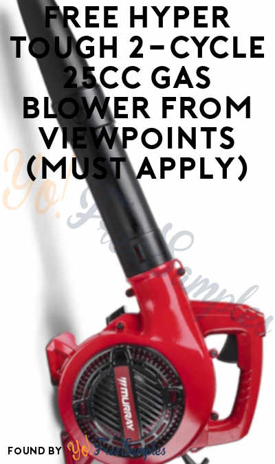 FREE Hyper Tough 2-Cycle 25cc Gas Blower From ViewPoints (Must Apply)