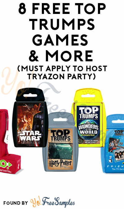 8 FREE Top Trumps Games & More (Must Apply To Host Tryazon Party)