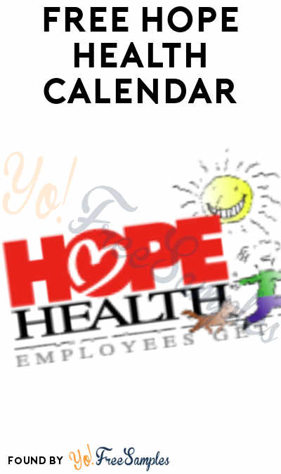FREE 2021 HOPE Health Calendar (Company Name Required)