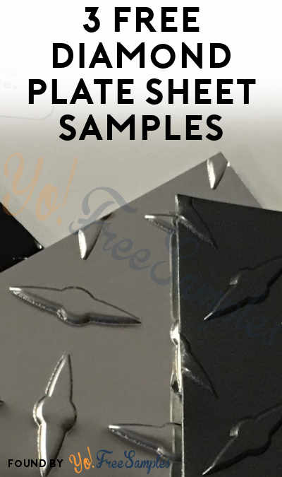 3 FREE Diamond Plate Sheet Samples