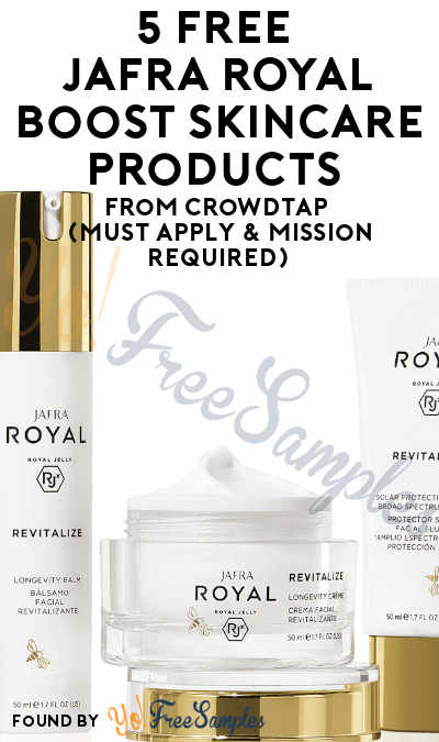 5 FREE Full-Size JAFRA ROYAL Boost Skincare Products From CrowdTap (Must Apply & Mission Required)