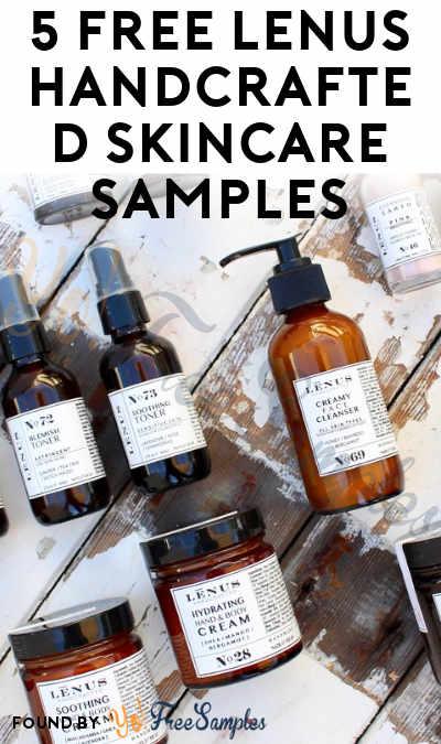 5 FREE LĒNUS Handcrafted Skincare Samples