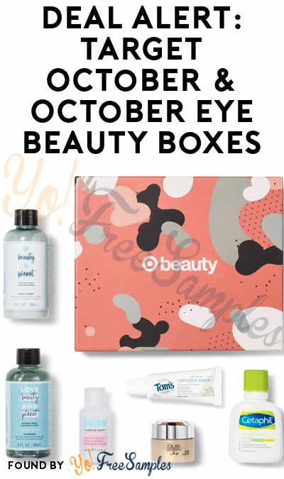 DEAL ALERT: Target October & October Eye Beauty Boxes For $7 ($30+ Value)