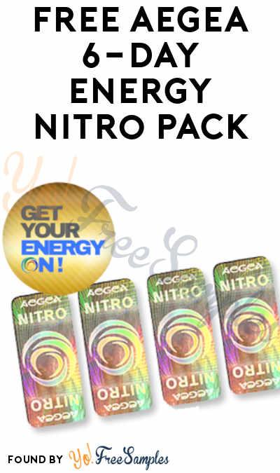 FREE Aegea 6-Day Energy Nitro Pack
