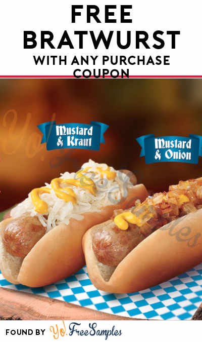TODAY (10/1) ONLY: FREE Bratwurst With Any Purchase Coupon At Wienerschnitzel's