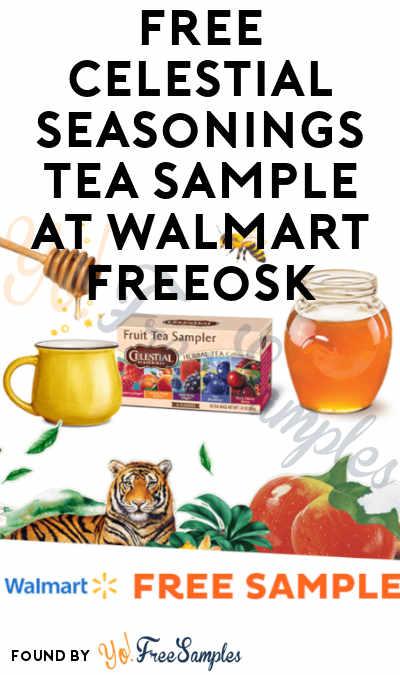 FREE Celestial Seasonings Tea Sample At Walmart Freeosk