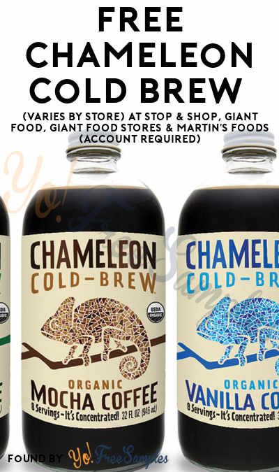 FREE Chameleon Cold Brew (Varies By Store) At Stop & Shop, Giant Food, Giant Food Stores & Martin's Foods (Account Required)