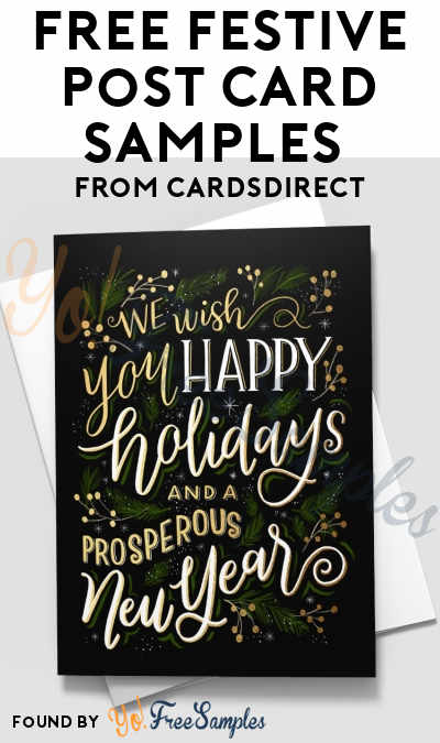 FREE Festive Post Card Samples From CardsDirect [Verified Received By Mail]