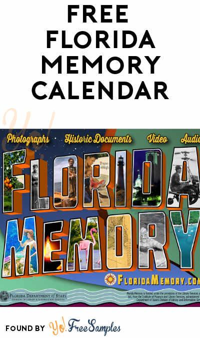 FREE Florida Memory 2020 Calendar