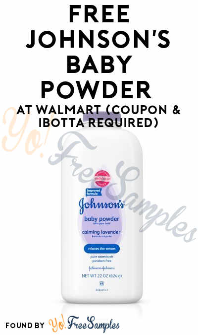 FREE Johnson's Baby Powder At Walmart (Coupon & Ibotta Required)