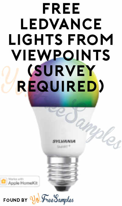 FREE LEDVANCE Lights From ViewPoints (Survey Required)