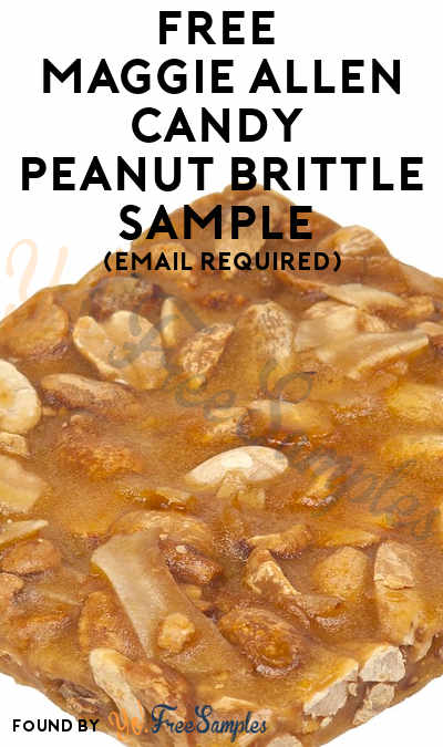 FREE Maggie Allen Candy Peanut Brittle Sample (Email Required)