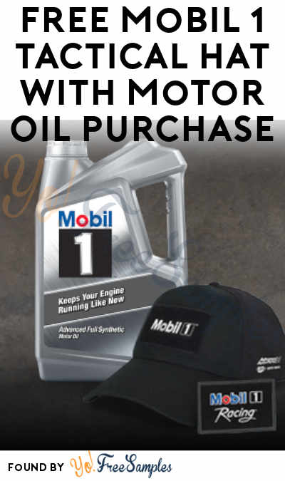 FREE Mobil 1 Tactical Hat With Motor Oil Purchase