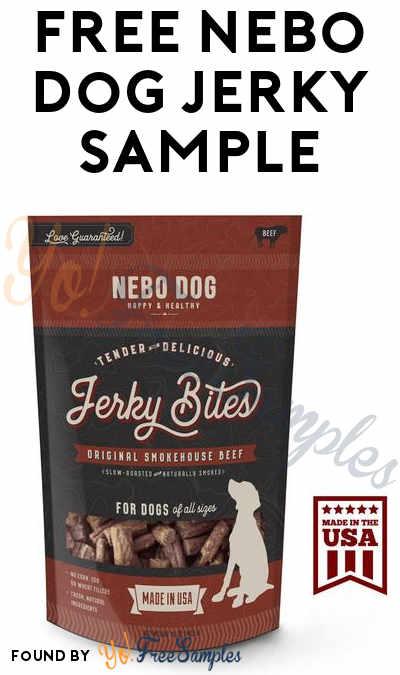 FREE Nebo Dog Tender Beef Jerky Bites Sample