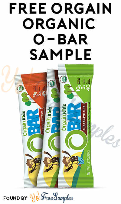BACK AGAIN! FREE Orgain Organic O-Bar Sample