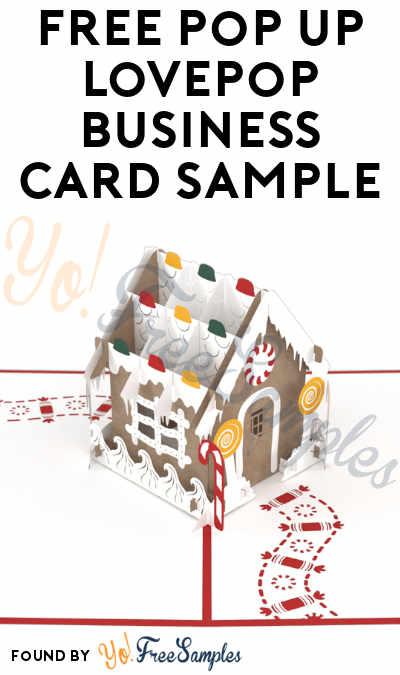 FREE Pop Up LovePop Business Card Sample