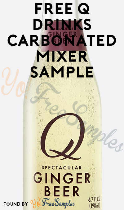 FREE Q Drinks Carbonated Mixer Sample