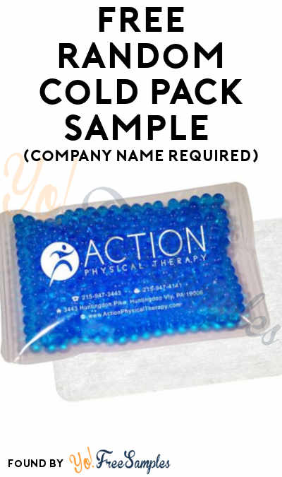 FREE Random Cold Pack Sample (Company Name Required)