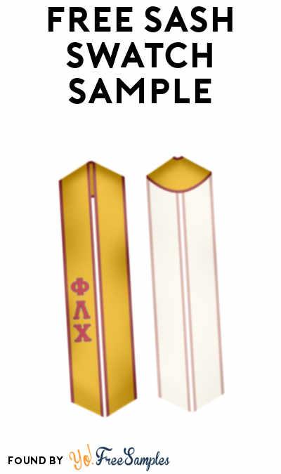 FREE Sash Swatch Sample
