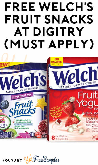 FREE Welch's Fruit Snacks At Digitry (Must Apply)